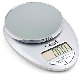 Ozeri Pro Kitchen Scale - Chrome